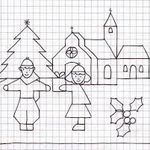 Blackwork, Christmas Coloring Pages, Pictures To Draw, Christmas Colors, Motor Skills, Pixel Art, Art For Kids, Cross Stitch, Doodles
