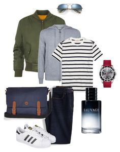 """""""Back to school"""" by ulusia-1 ❤ liked on Polyvore featuring WearAll, Burberry, Brooks Brothers, Lands' End, Ray-Ban, adidas, Christian Dior, Lacoste, River Island and men's fashion"""