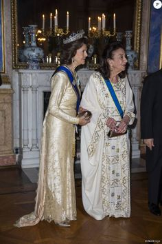 Swedish Royals attended the state banquet held for Tunisian President at the Stockholm Palace on November 04, 2015 in Stockholm, Sweden.