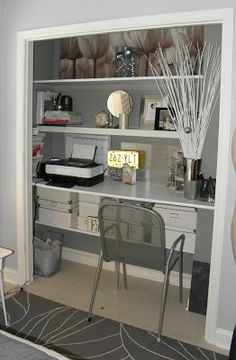 Tremendous 15 Closets Turned Into Space Saving Office Nooks Offices Largest Home Design Picture Inspirations Pitcheantrous