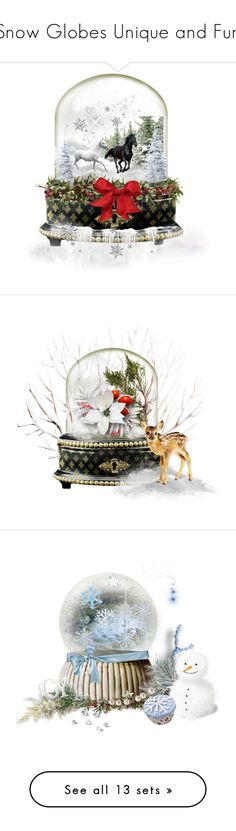 """Snow Globes Unique and Fun"" by catfabricsandbuttons ❤ liked on Polyvore featuring art, MakeAWish, Christmas, EmeraldCity, wishes, countyourblessings, MagicofChristmasContest, CAN and let"