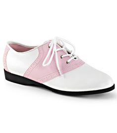 Funtasma Pink and White Saddle Shoes
