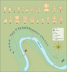 Map of Ajanta Caves