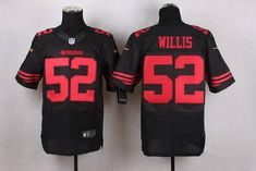 Men's San Francisco 49ers #52 Patrick Willis 2015 Nike Black Elite Jersey