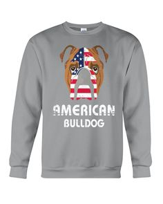 American Bulldog Dog Dog Lover Gift Bull T-Shirt - Sports Grey french bulldog products, english bulldog care tips, french bulldog memes #bulldogsjob #bulldogfeature #bulldoglifestyles, back to school, aesthetic wallpaper, y2k fashion English Bulldog Care, Grey French Bulldog, Dog Lover Gifts, Dog Lovers, Bulldog Products, Funny Bulldog, Graphic Sweatshirt, T Shirt, American
