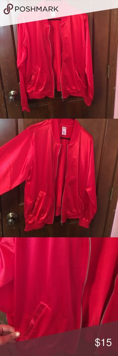Red Dance Jacket Worn for one dance performance and has been in my closest since! It's a bright, red, shiny jacket! Great for dance recitals, Halloween costumes or just to wear! Only imperfection is permanent marker on the tag where I had my initials- otherwise in perfect condition! Jackets & Coats
