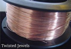 Wire 67714: 1Lb 14 Ga Ap. 80 99.9% Copper Dead Soft Round Jewelry Design Wire Gauge G Usa BUY IT NOW ONLY: $31.95