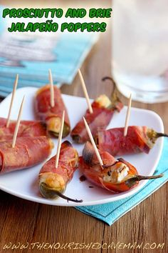 A jalapeño popper with an european flair! Perfect for any party, tailgate party, superbowl party etc!!  Prosciutto and Brie Jalapeno Poppers By The Nourished Caveman side