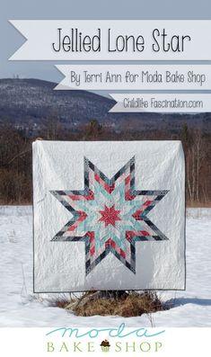 Jellied Lonestar Quilt Pattern by Terri Ann of ChildlikeFascination.com for Moda Bake Shop