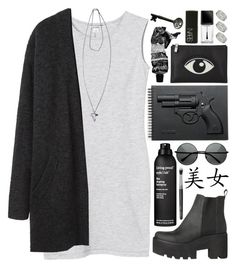 """""""DAY WEAR - GRUNGE GUN"""" by pretty-basic ❤ liked on Polyvore featuring Monki, Acne Studios, Revolver, Kenzo, Living Proof, Dorothy Perkins, Givenchy, Aesop, Illamasqua and NARS Cosmetics"""