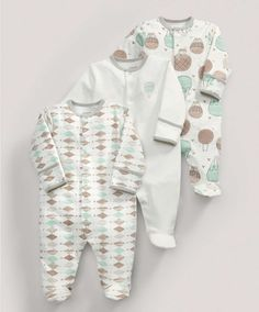 All-in-Ones (3 Pack) Balloons Print - NEW Arrivals - Mamas & Papas