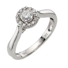 Humorous Ladies Estate 14k White Gold 1/4 Cttw Diamond Right Hand Fashion Ring Jewelry & Watches