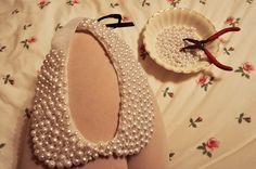 Yesterday's Sweetheart: Do-It-Yourself Pearl Peter Pan Collar Necklace