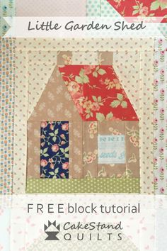 Free block tutorial by Nicola Dodd of CakeStand Quilts. House Quilt Patterns, House Quilt Block, Beginner Quilt Patterns, Patchwork Quilt Patterns, Star Quilt Blocks, House Quilts, Paper Piecing Patterns, Quilting For Beginners, Quilting Tutorials