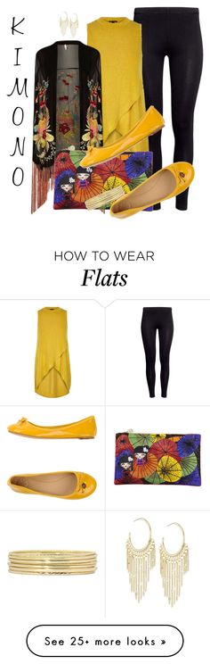 """""""KIMONO by DaNewMeh"""" by thchosn on Polyvore featuring H&M, River Island, Topshop, Forest of Chintz, Tory Burch, Lydell NYC, Liz Claiborne and kimonos"""
