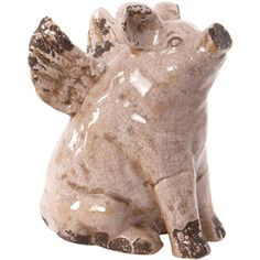 Winged Pig Statuette