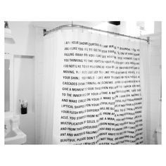 Could this shower curtain featuring a short story by Dave Eggers be the greatest shower curtain ever? Absolutely!