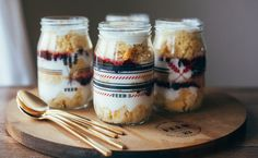 Cranberry Cornbread Parfaits from My Name Is Yeh