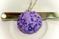 beautiful lilac pendant by Chili Crab, via Flickr