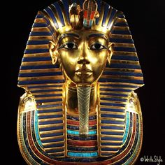 Golden Mask of Tutankhamun in the Egyptian Museum. Tutankhamun was an Egyptian pharaoh of the dynasty (ruled c. BC in the conventional chronology), during the period of Egyptian history known as the New Kingdom or sometimes the New Empire Period. Ancient Egypt History, Ancient Egyptian Art, Ancient Aliens, Ancient Greece, Expo Paris, Objets Antiques, Egyptian Pharaohs, Art Antique, Kairo