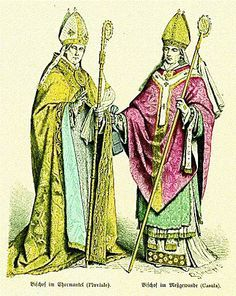 Bishops, left in pluviale, right in chasuble