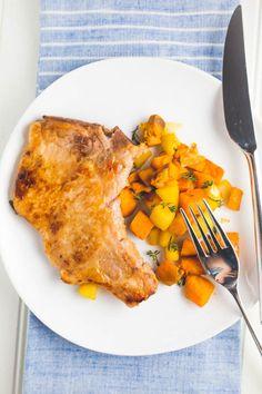 whole30 pork chops and sweet potato hash