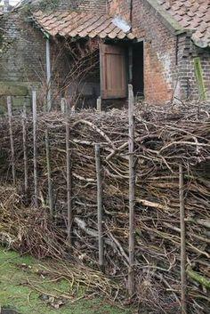 garden shrubs for sale Garden Shrubs, Garden Fencing, Garden Landscaping, Wattle Fence, Cerca Natural, Natural Fence, Rustic Fence, Garden Structures, Garden Spaces