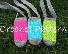 Ideas For Crochet Baby Sling Water Bottles Crochet Pillow Patterns Free, Sewing Patterns Free, Crochet Baby Booties, Baby Blanket Crochet, Easy Crochet, Free Crochet, Fingerless Gloves Crochet Pattern, Crochet Summer Dresses, Crochet Braid Styles