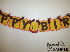 winnie the pooh birthday banner by LoLLiLicious on Etsy, $25.00
