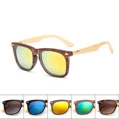 edc60418a055b 2017 Fashion Bamboo Sunglasses Women Square Oculos Wooden Glasses Female  Wood Grain Frame Sun Glasseslentes de sol mujer-in Sunglasses from Women s  Clothing ...