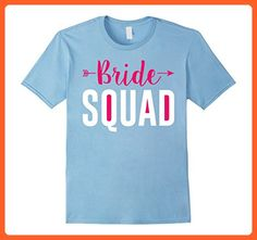 Mens Brides Maid and Bachelorette Party Shirt - Bride Squad Tee Large Baby Blue - Wedding shirts (*Partner-Link)