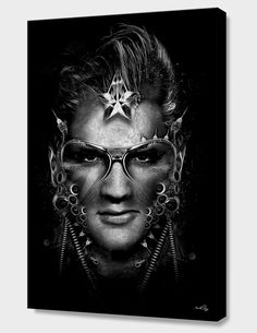 """Elvis"", Limited Edition Canvas Print by Nicolas OBERY - From $110.00 - Curioos"