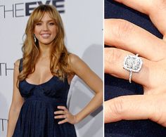 Jessica Alba: Cash Warren got down on bended knee in late 2007 and asked for Jessica Alba's hand with an Asscher-cut diamond.