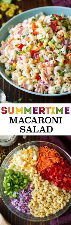 Classic Macaroni Salad is a delicious, classic macaroni salad with a rich and creamy dressing and colorful vegetables. Perfect for picnics or a spring or summer side dish.