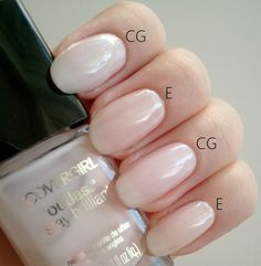 CoverGirl - Forever Frosted vs. Essie - Ballet Slippers.