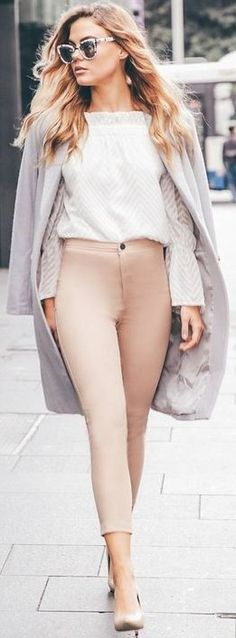 #fall #work #outfits | 'Breezy Does It' Top + 'On Time' Pants + 'Take On The…