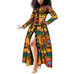African Dashiki Dress Traditional Women African Clothing – Inspirational Clothing and Accessories African Dresses For Kids, African Print Dresses, African Fashion Dresses, Fashion Skirts, Fashion Outfits, African Prints, African Fabric, Fashion Women, Fashion Ideas