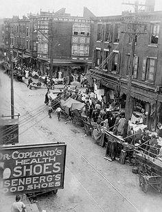 "South Street's ""Old Curb Market'"" ca. Philadelphia - 1930"