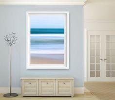 Abstract Ocean Art, Nantucket Artwork, Seascape Photography Nautical Decor Beach Decor Coastal Art Print Teal Blue Beige Living Room Bedroom
