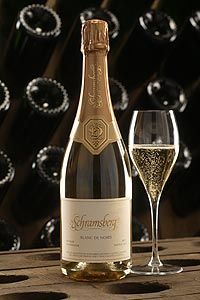 Schramsberg Blanc De Noirs - California sparkling wine made mostly with Pino Noir.  Delicious.