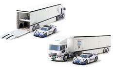 2010 transporter (1/43 scale) | 2010 pit partition | Paper Craft | Epson Nakajima Racing |  Sponsorship | Epson These items + many Epson race cars + other items great site - free download