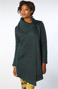 Karmaloop BB Dakota The Christopher Assymetrical Fuzzy Coat Green | eBay