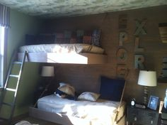 Hanging bunk beds that my amazing man made ;) so proud of him!!!!