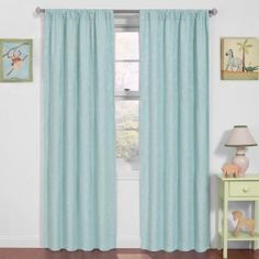 Eclipse Nursery Thermaback Day At The Zoo Blackout Panel Curtains