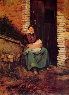 Santiago Rusiñol (Spain, 1861-1931) Último rayo de sol #Motherhood #MothersDay
