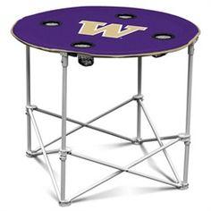 Washington Huskies Folding Round Table