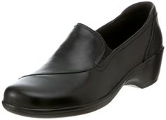 """Clarks Shoes Women May Clarks Women's May Poppy Loafer Leather Manmade sole Heel measures approximately 1.75"""" Genuine leather or faux patent leather with croco-print Ortholite® footbed Ultra-flexible BendablesTM outsole Steel shank construction Fabric lining"""