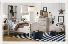Cute dog themed room with matching dog bed | Restoration Hardware Baby & Child