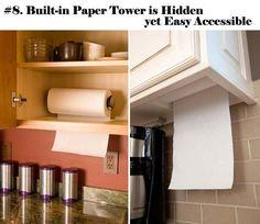 Built-in Paper Tower is Hidden yet Easy Accessible.