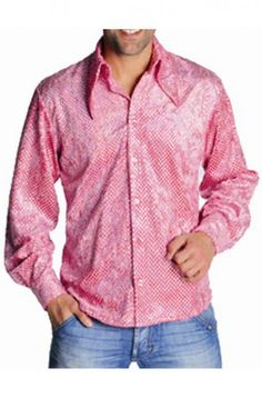 Effetto Rosa Colletto Camicia Attillata A Punte Grande Luccicante Spettacolo Uomo Con Paillettes Iride Linea Velluto DE9IWHY2